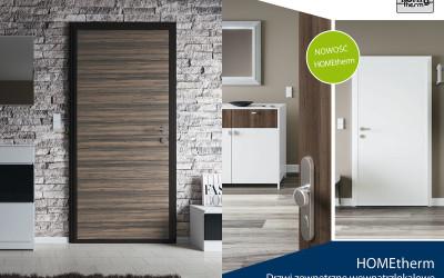 NOWOŚĆ! Drzwi Premium HOMEtherm dedykowane do mieszkań i apartamentów